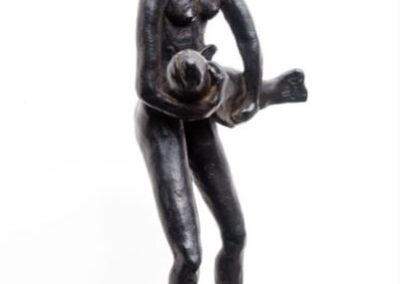 Hilda Boer - Poisson d'avril - 2015 - brons - 34 cm hoog