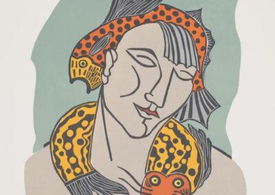 Hilda Boer - You make me feel... - 2014 - linosnede op papier 1 van 4 - 65 x 50 cm