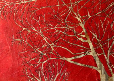 Katja Berkenbosch - Streetview I - 2018 - papierkunst 50 x 75 cm
