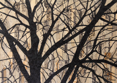 Katja Berkenbosch - Streetview II - 2019 - papierkunst 50 x 75 cm