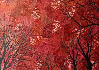 Katja Berkenbosch - Vlinderboom - 2018 - papierkunst - 50 x 75 cm