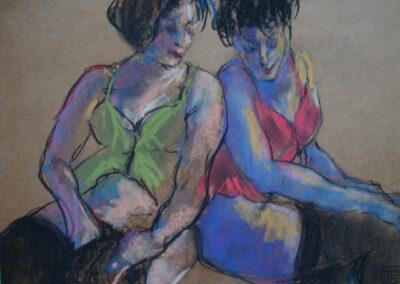 Sook Bae - Hommage aan Lautrec - 2013 - pastel op papier - 40 x 50 cm