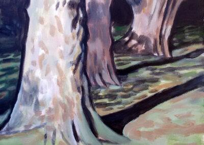 Alex de Wolf - Boomstudie # 8 - acryl op doek - 2018 - 50 x 40 cm
