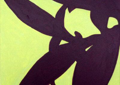 Alex de Wolf - Tradescantia - Acryl op doek - 2020 - 40 x 40 cm