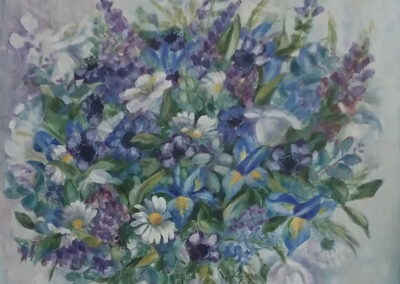 Alison Korthals Altes - groot gemengd boeket - 58 x67 cm