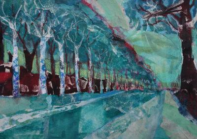 Cora Mulder - Verscheurd landschap - 2019 - gemengde techniek - 40-50 cm