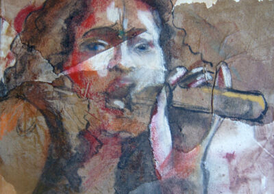 Cora Mulder - jazzzangeres - 1995 - gemengde techniek - 40-50 cm