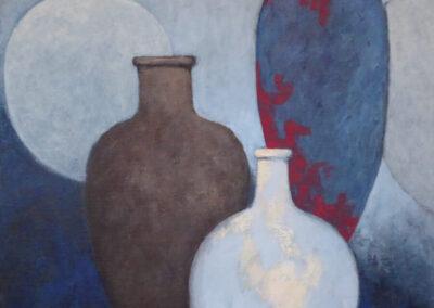 Dieuwke Tamsma - Compositie - 2019 - acryl op doek - 70 x 70 cm