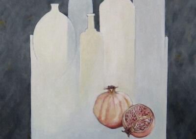 Dieuwke Tamsma - Tafel -2007 - acryl op doek - 100 x 80 cm