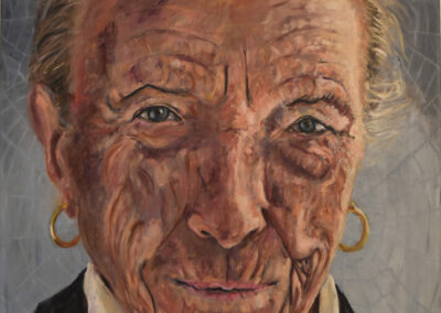 Ingebrog Vreeswijk - Louise Bourgeois - olieverf op doek - 90 x 80 cm
