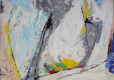 Jan van Dijk - Als de wind gaat liggen - 2019 - acryl en tempera - 100 x 120 cm