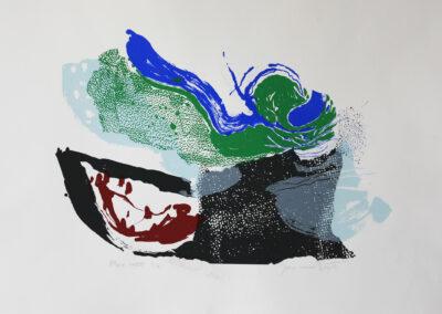 Jan van Dijk - Mare mosso - 2018 - zeefdruk - 50 x 65 cm