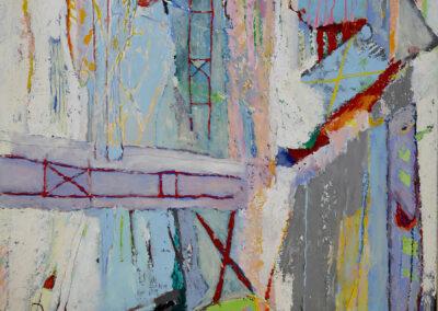 Jan van Dijk - Restless city - 2019 - acryl en tempera - 150 x 120 cm