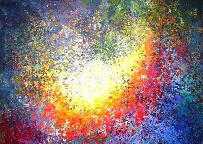 Mariska Hofman - z.t. - acryl op linnen - 150 x 150 cm