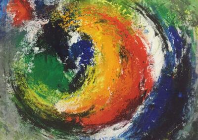 Mariska Hofman - z.t. - acryl op linnen - 80 x 90 cm