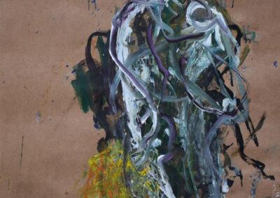 Patty van Hoften - Mirar - inkt, krijt, acryl op papier - 70 x 60 cm