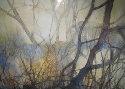 Sjoerdtje Hak - Kleingaten in het najaar - 2019 - aquarel - 50 x 60 cm