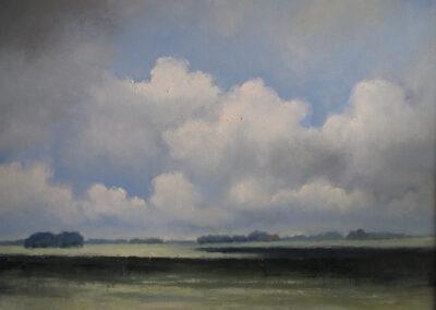 Sjoerdtje Hak - Zomerwolken - olieverf op doek - 70 x 80 cm