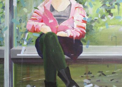 Tjits van der Kooij - Klem - 2019 - acryl op linnen - 100 x 80 cm
