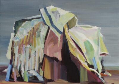 Tjits van der Kooij - Semipermanent onderkomen - 2017 - acryl op katoen - 60 x 75 cm