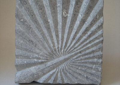 Kees Reek - Palm - Belgisch hardsteen - 28 x 28 x 3 cm