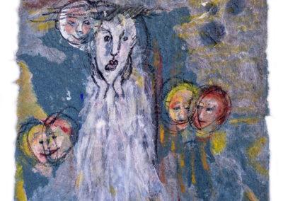 Diane Lekkerkerker - Mes souvenirs - 2020 - handgeschept papier - 20 x 20 cm