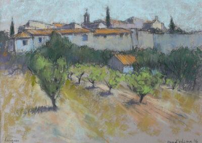 Ruud Ritsma - Leques Zuid Frankrijk - 2016 - pastel - 40 x 50 cm