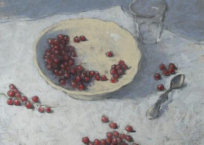 Ruud Ritsma - Stilleven met besjes - 2018 - pastel - 40 x 50 cm