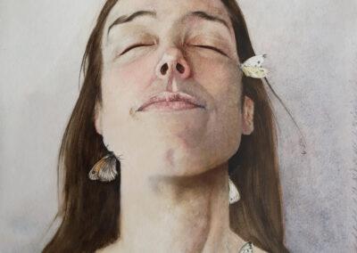 Melissa Halley - Acceptatie - 2019 - aquarel op paneel - 61 x 50 cm