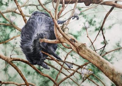 Melissa Halley - Lost and Found - 2019 - aquarel op paneel - 30 x 40 cm