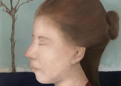 Chantal van Houten - Levensboom - 2019 - olieverf op papier - 20 x 30 cm.