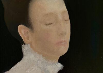 Chantal van Houten - Zacht gelaat - 2019 - olieverf op canvas - 30 x 40 cm.