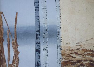 Renée Blom - Er was eens een verte - 2017 - collage - 30 x 40 cm