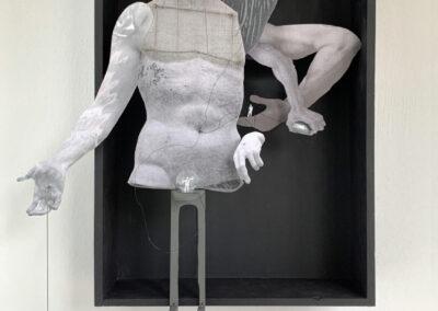 Wanda Janota - Goliath en David's - 2019 - assaemblage - 33 x 50 x 9 cm
