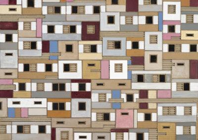 Erik Timmermans - Platte-Art VIII - 2018 - acrylverf en pen op golfkarton - 80 x 60 cm