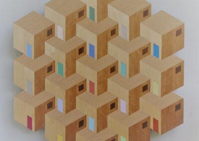 Hanneke Rijks - Favela - 2019 - Berkenmultoplex en fineer - 74 x 64 x 2 cm