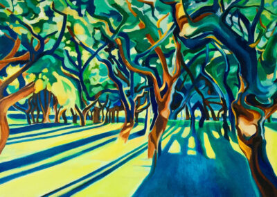 SannekeGriepink - Dances with trees - 2019 - olieverf op doek - 55 x 90 cm