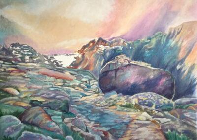 SannekeGriepink - Hoogpad - Aosta - 2016 - olieverf op doek - 105 x 85 cm