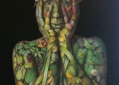 Marije van Wieringen - Cohesion1 - 2019 - olie op doek - 160x100 cm