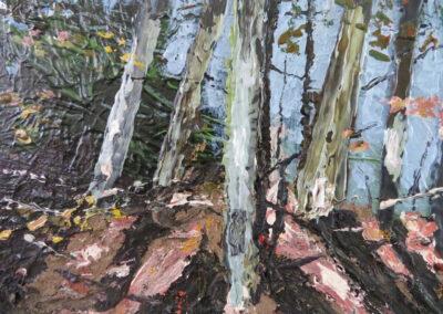 Marijke van Oostrum - Amsterdamse bos - 2019 - acryl op doek - 24 x 30 cm