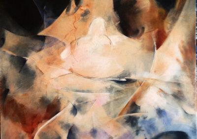 Yelena Oosting - Laughing Buddha - 2016 - acrylic on canvas - 80 x 100 x 6 cm