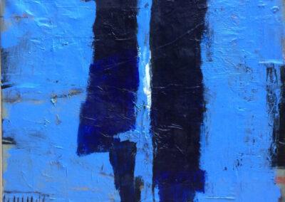 Anneke Hohmann - Man-vrouw - 2020 - Acryl, collage, oostindische inkt - 85 x 90 cm