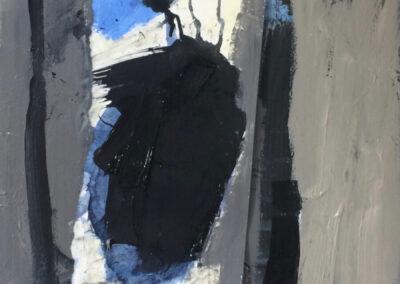 Anneke Hohmann - Wolken - Acryl, collage - 2020 - 50 x 60 cm